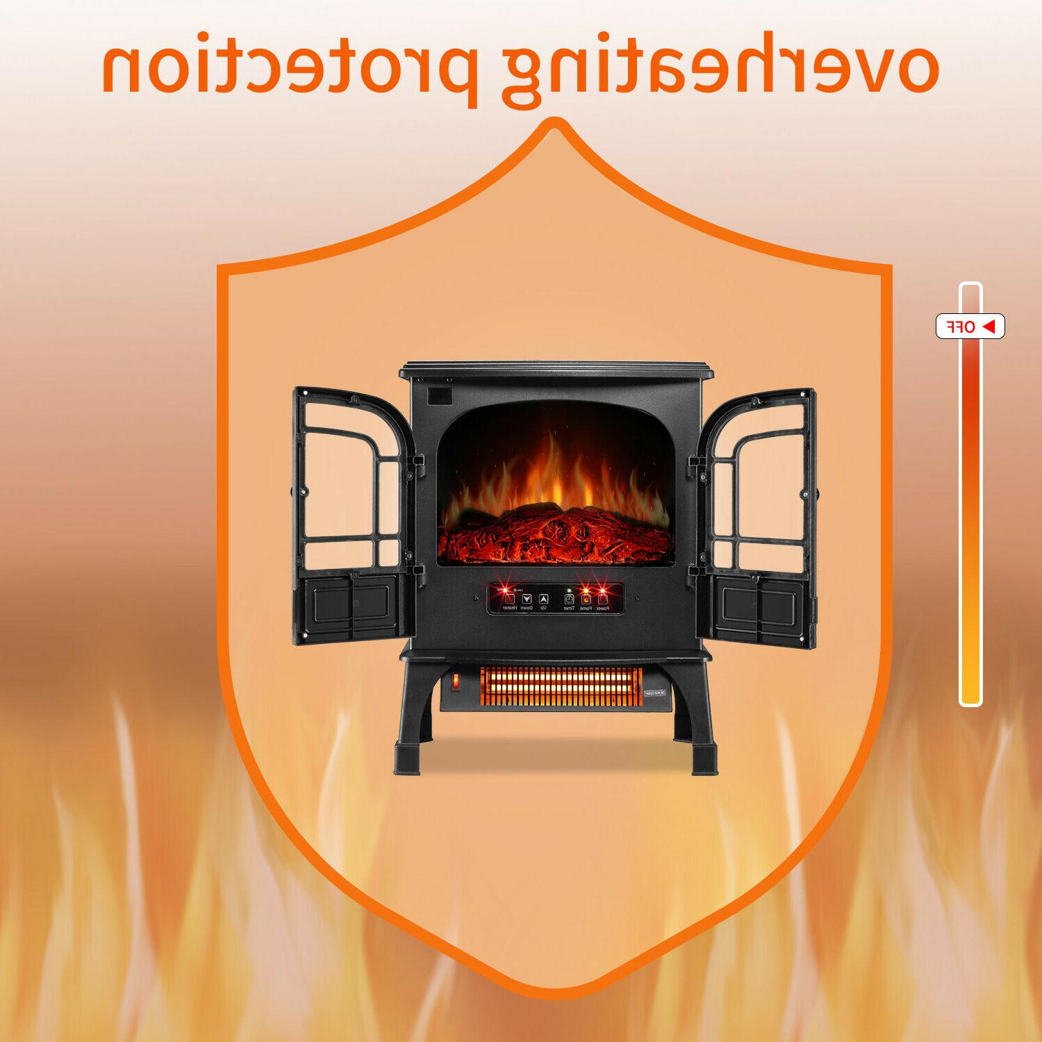 Protable Indoor Fireplace Stove Heater with