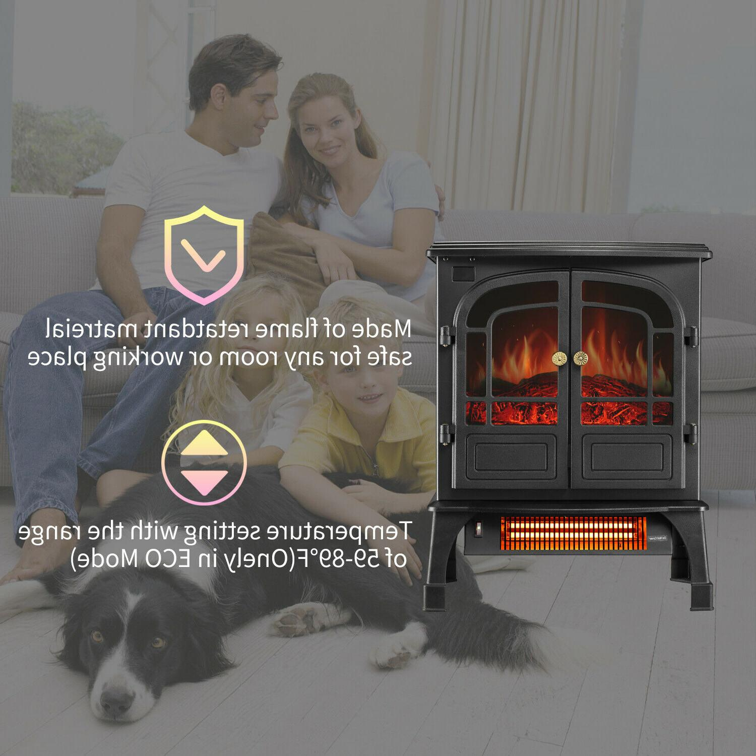 Protable Indoor Electric Stove Heater with Remote