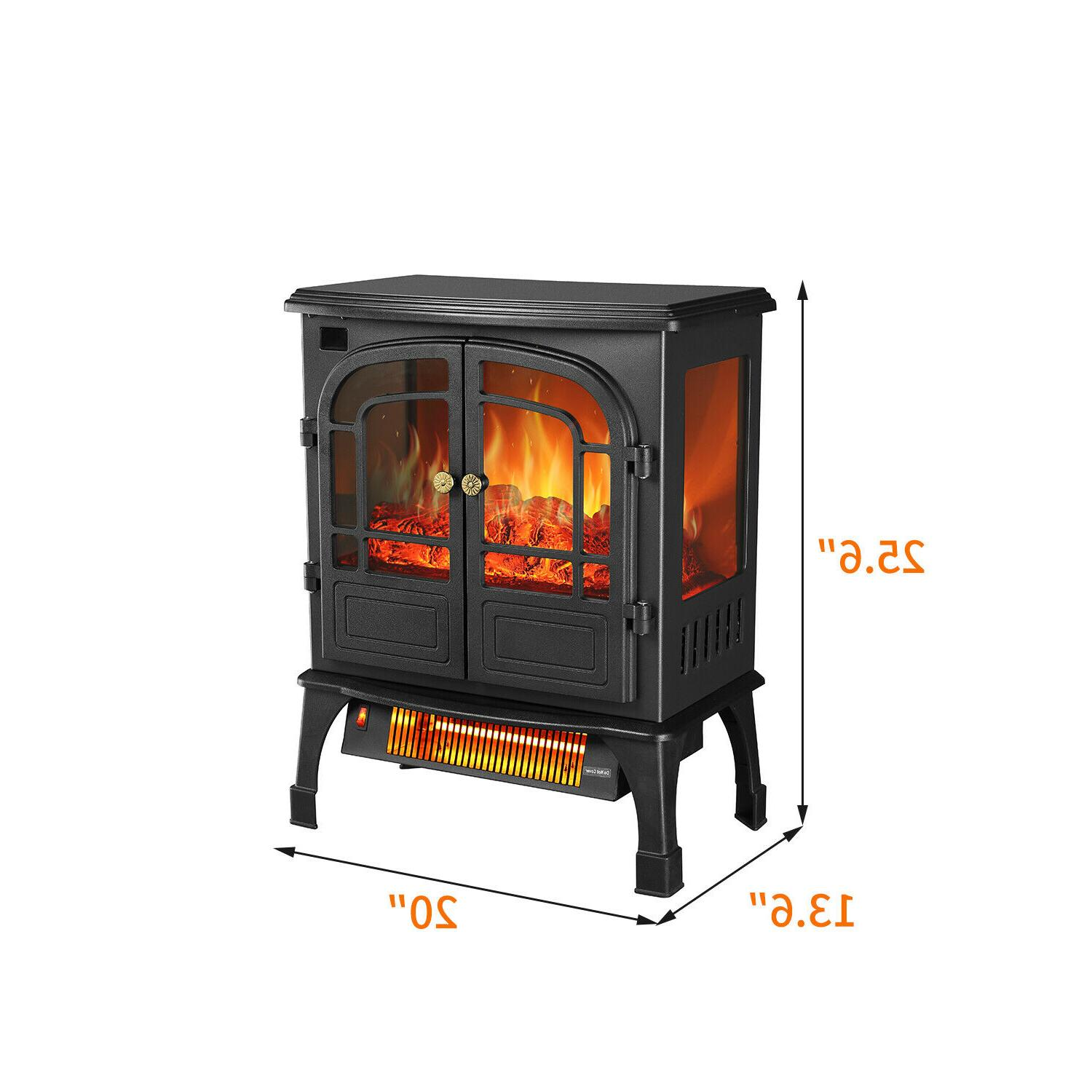 Protable Indoor Stove Heater Realistic with Remote