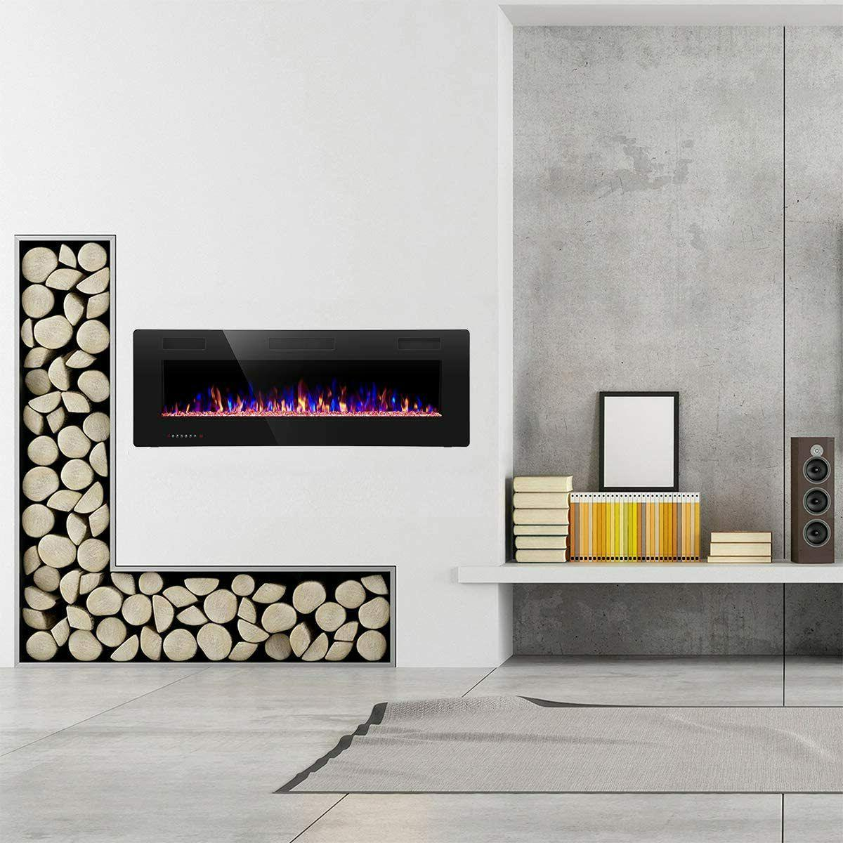 R.W.FLAME Fireplace inch Recessed and Mounted,Thinnest