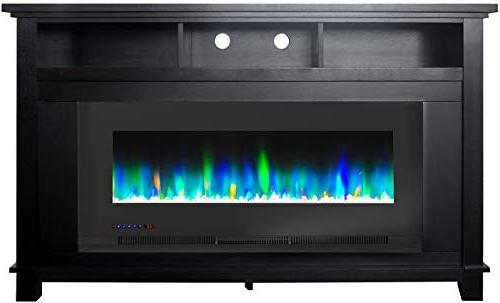 Cambridge Jose in. Electric TV with Insert and LED Rock Display,
