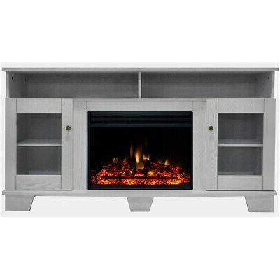savona electric fireplace heater with 59 in