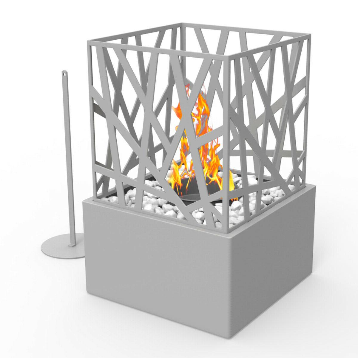 Small Tabletop Heater Patio Deck Gas Fireplace Fire Pit Prop
