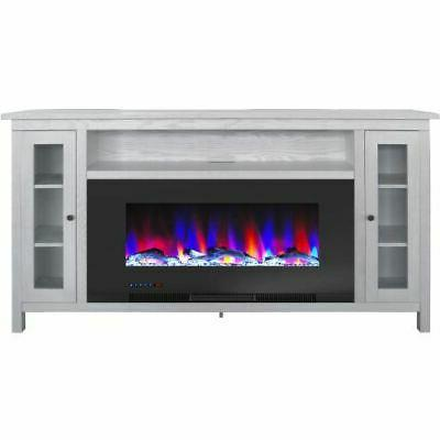 somerset 70 electric fireplace tv stand