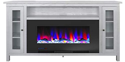 Cambridge 70-in. TV with LED Flames, Display, and CAM6938-2WHT