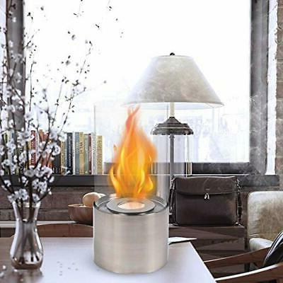 Silver Portable Fireplace