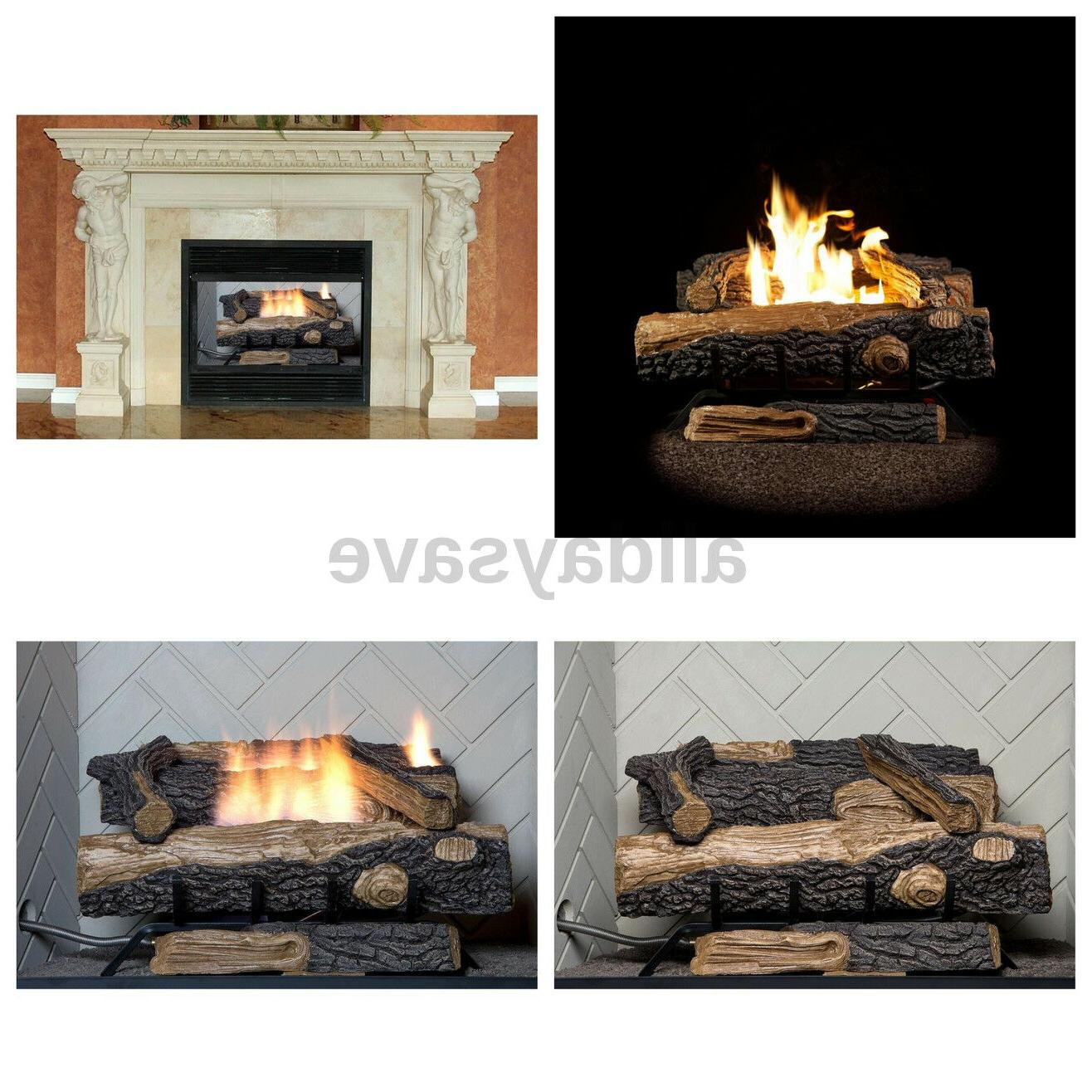 vent gas fireplace logs thermostat