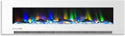 wall mount heater electric fireplace multi color