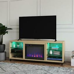 Ameriwood Home Lumina Deluxe Fireplace TV Stand for TVs up t