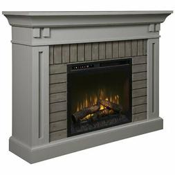 Dimplex Madison Mantel Electric Fireplace with Logs in Stone