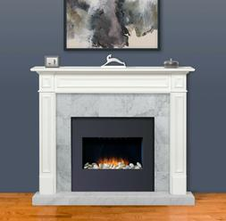 "Pearl Mantel 64"" Mike white transitional fireplace mantel. 5"