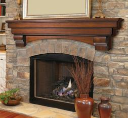 Pearl Mantel Auburn arched fireplace mantel or TV shelf. Pic
