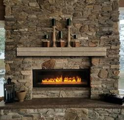 Pearl Mantel Cades Coves pallet pine fireplace mantel shelf.