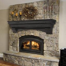 Pearl Mantel Celeste arched pine fireplace mantel or TV shel