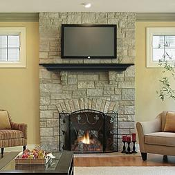 "Pearl Mantel Crestwood fireplace mantel shelf. 48-72"", black"