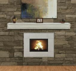 "Pearl Mantel Sarah fireplace mantel shelf. 48-72"", Linen or"