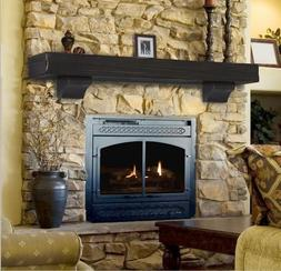 Pearl Mantel Shenandoah rustic fireplace mantel shelf. Pick