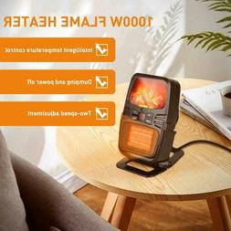 Portable Freestanding Tabletop Space Heater Flame Effect Min