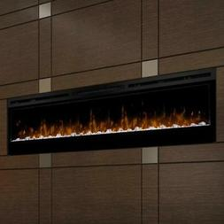 Prism Series Black Linear Wall-mount Electric Fireplace - 74