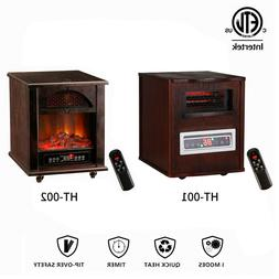 KOOLWOOM Quartz Infrared Electric Space Heater Fireplace Por