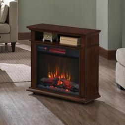 Duraflame Rolling Heater Electric Fireplace Mantel 23IRM7491