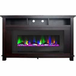 Cambridge San Jose Fireplace Entertainment Stand in Mahogany