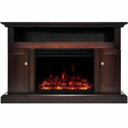 "Sorrento Electric Fireplace Heater with 47"" Mahogany TV Stan"