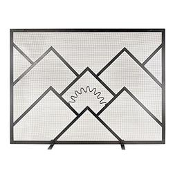 Minuteman Sunrise Wrought Iron Fireplace Screen