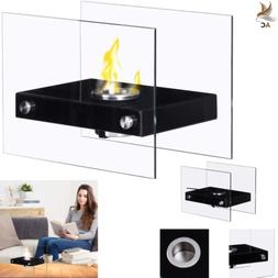 TableTop Fireplace Portable Ventless Stainless Steel Indoor