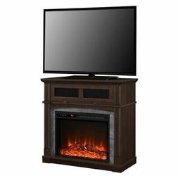 """Ameriwood Home Thompson 37"""" Fireplace TV Stand in Cherry"""