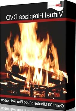 Virtual Fireplace DVD Digital Home Christmas Warm Comfort Fo