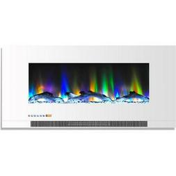 Hanover Wall-Mount Electric Fireplace Multi-Color Flames Dri