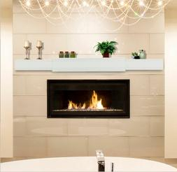 "White Emory fireplace mantel shelf expands from 48-80"". Or u"