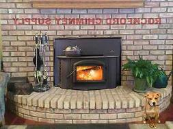 Wood Burning Fireplace Insert Napoleon 1402 Complete with Fl