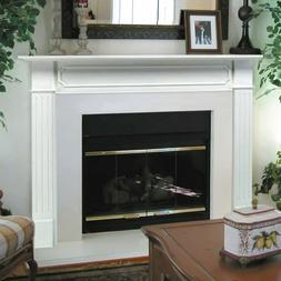 Wood Fireplace Mantel Surround White Decoration Display Shel